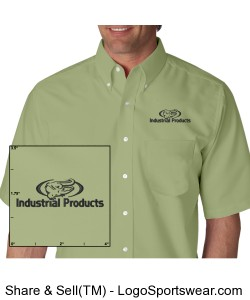 Short Sleeve Oxford Dress Shirt Design Zoom